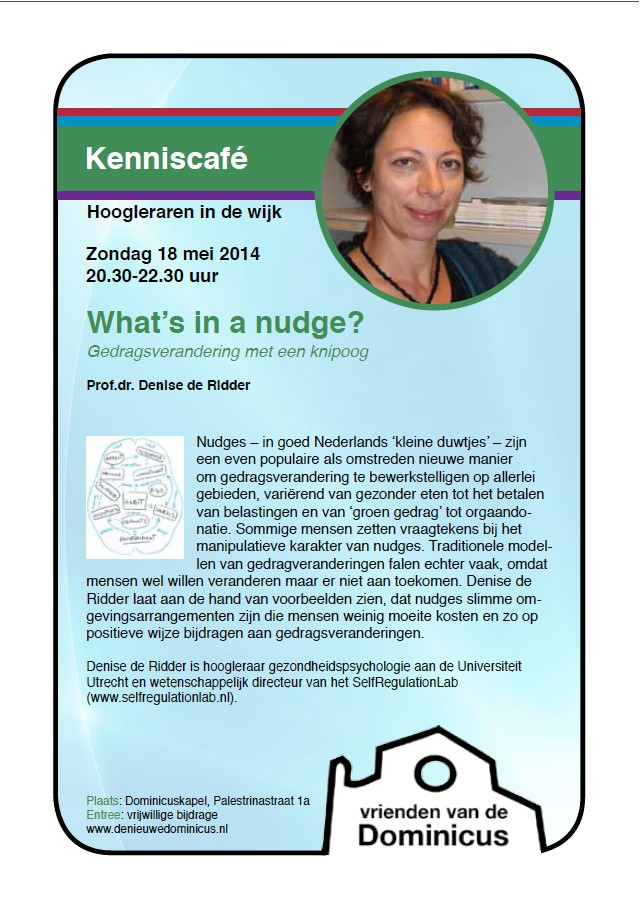Poster Kenniscafé-What's in a nudge?