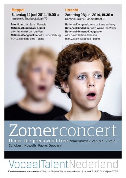 Flyer Zomerconcert Vocaal Talent Nederland