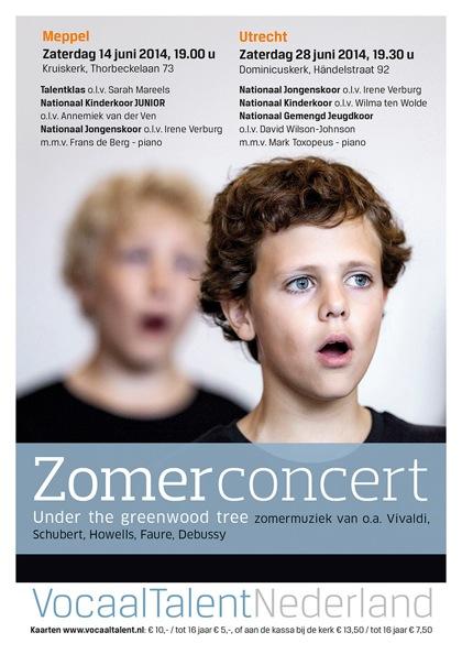 Flyer Zomerconcert Vocaal Talent Nederland