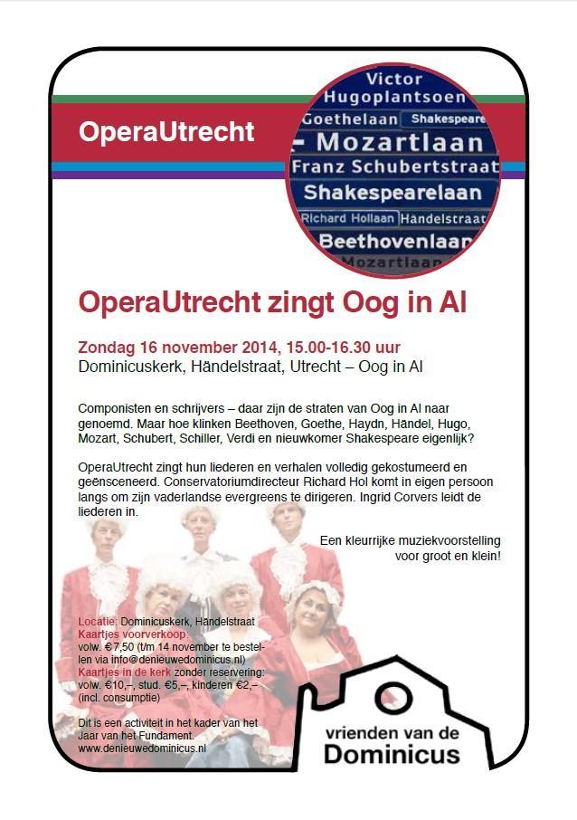 Flyer OperaUtrecht zingt Oog in Al