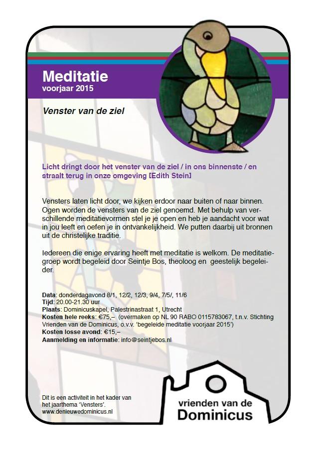 Flyer meditatie voorjaar 2015