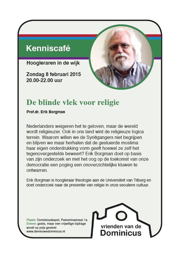 Flyer Kenniscafé met Erik Borgman