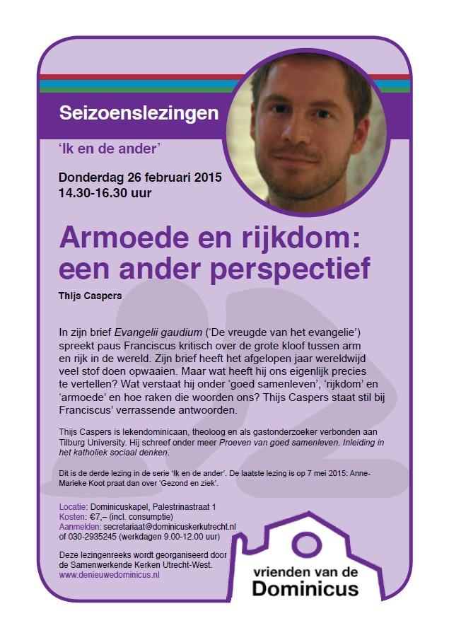 Flyer lezing Thijs Caspers
