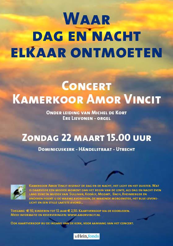 Flyer concert Amor Vincit, 22 maart 2015