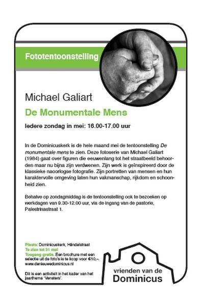 """Flyer """"De monumentale mens""""- mei 2015"""