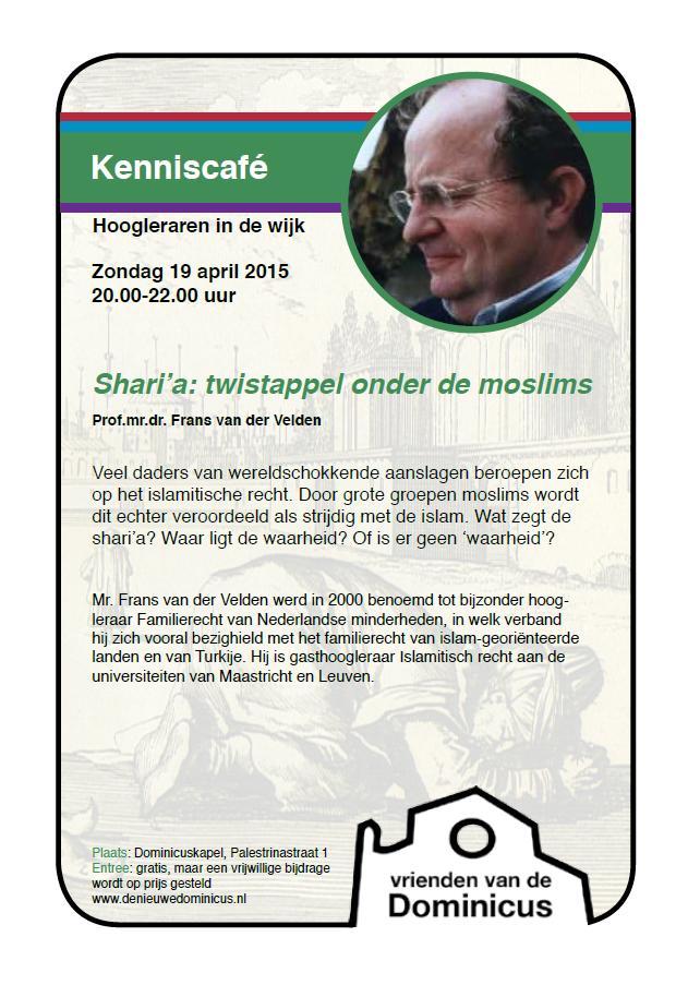 Flyer Kenniscafé Van der Velden