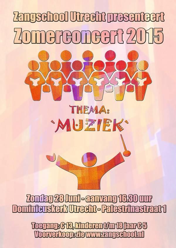 Poster Zomerconcert Zangschool Utrecht
