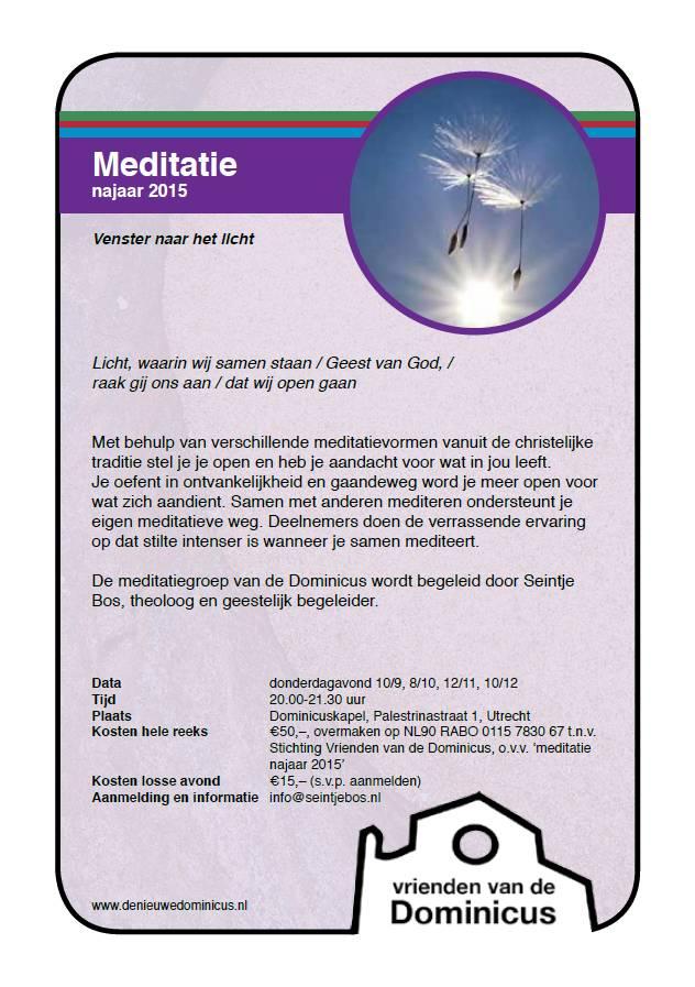 Flyer meditatie najaar 2015