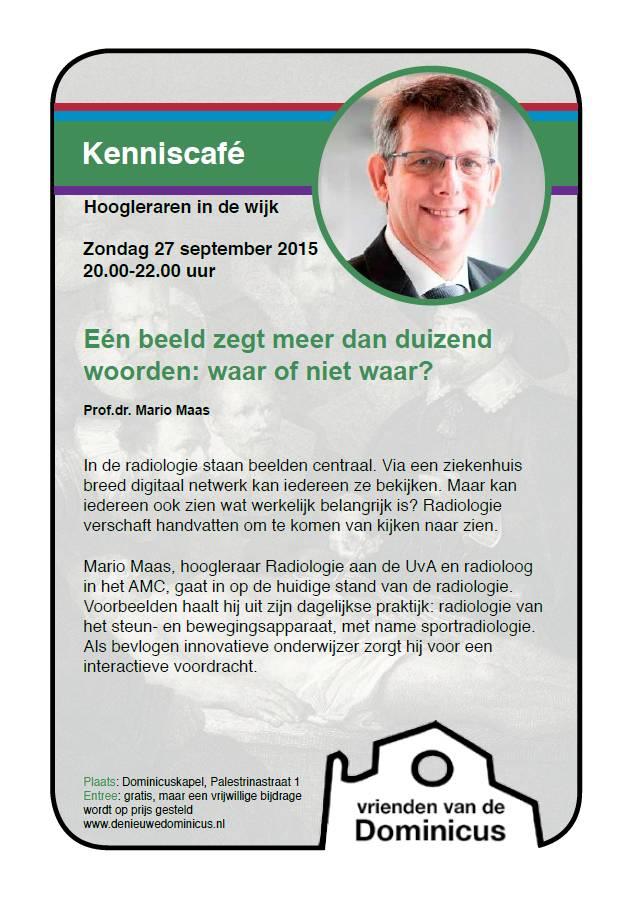 Flyer Kenniscafé Radiologie
