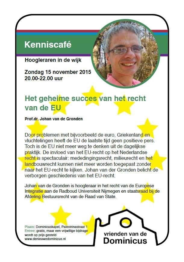 Flyer Kenniscafé Van de Gronden