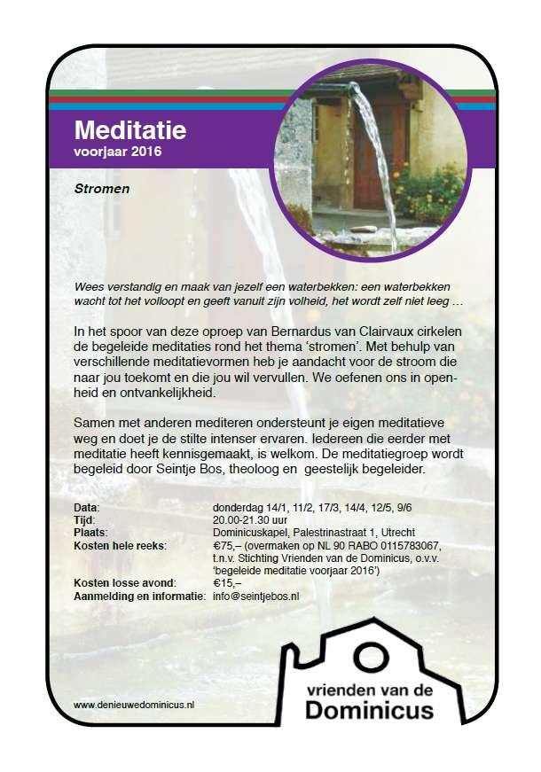 Flyer meditatie voorjaar 2016