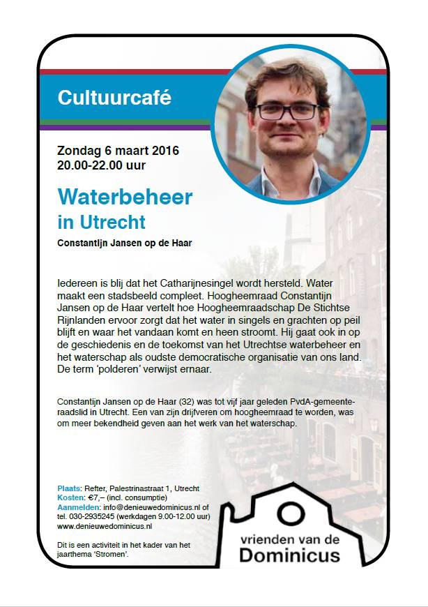 Flyer Waterbeheer in Utrecht