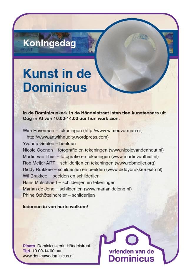 Flyer expositie Koningsdag 2016