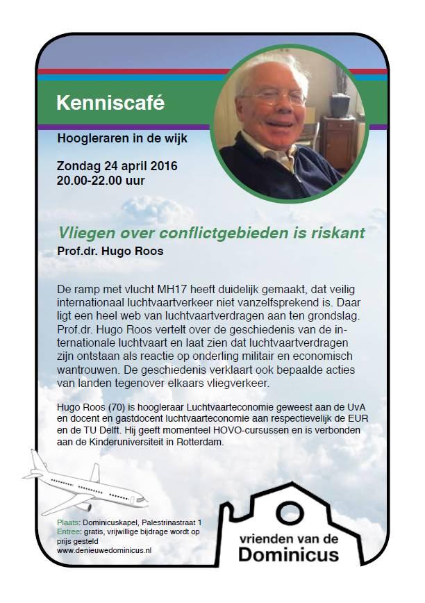 Flyer Kenniscafe': Vliegen over  conflictgebieden