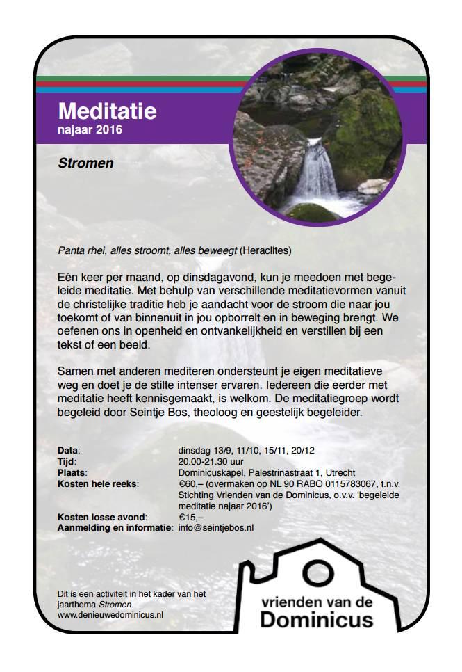 Flyer meditatie najaar 2016