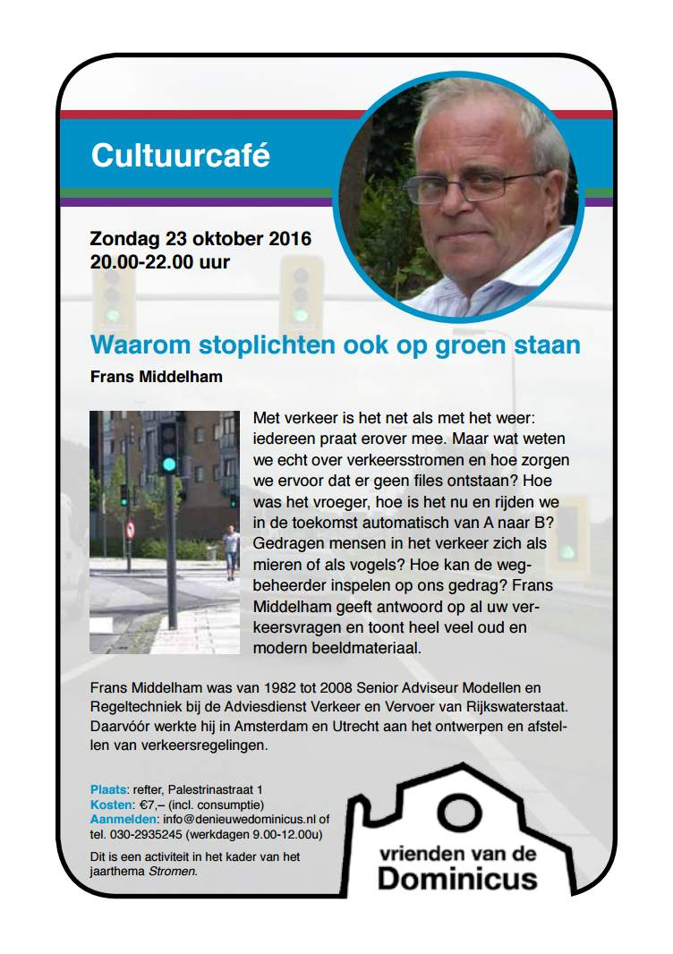 Flyre Cultuurcafé rond verkeersstromen
