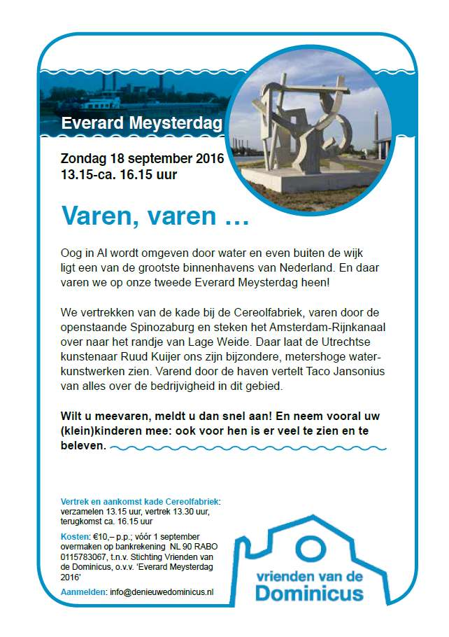 Flyer Everard Meysterdag 2016