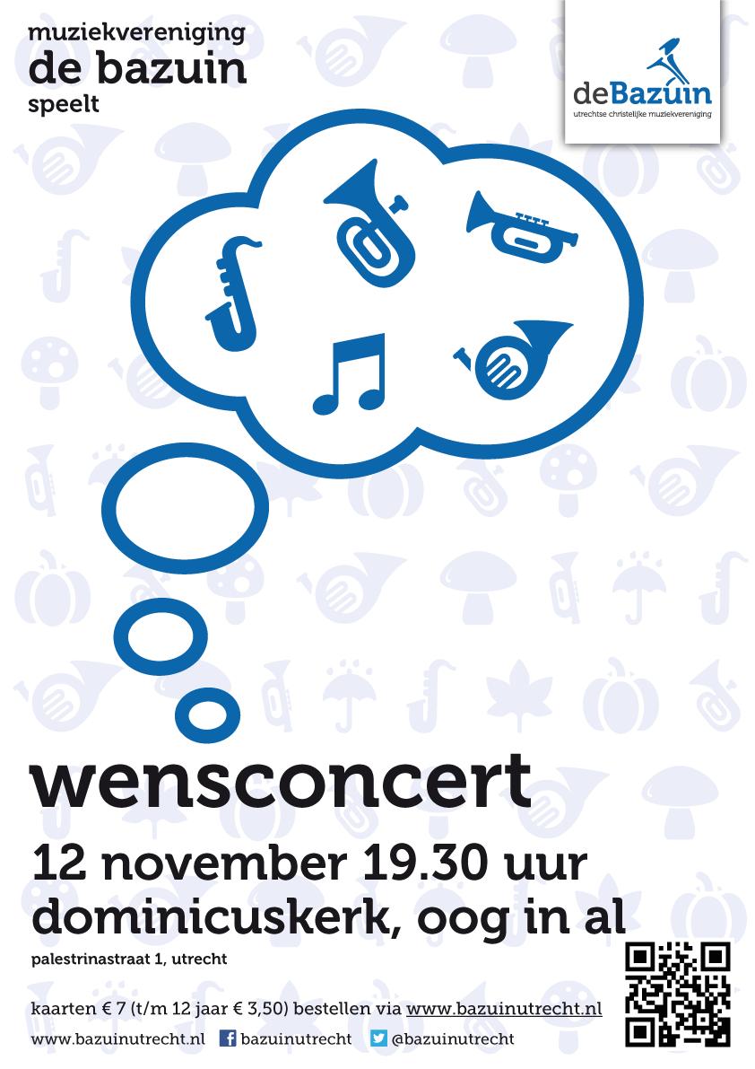 Poster Wensconcert 2016 - De Bazuin, Utrecht