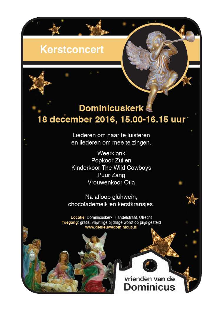 Flyer Kerstconcert 18-12-2016