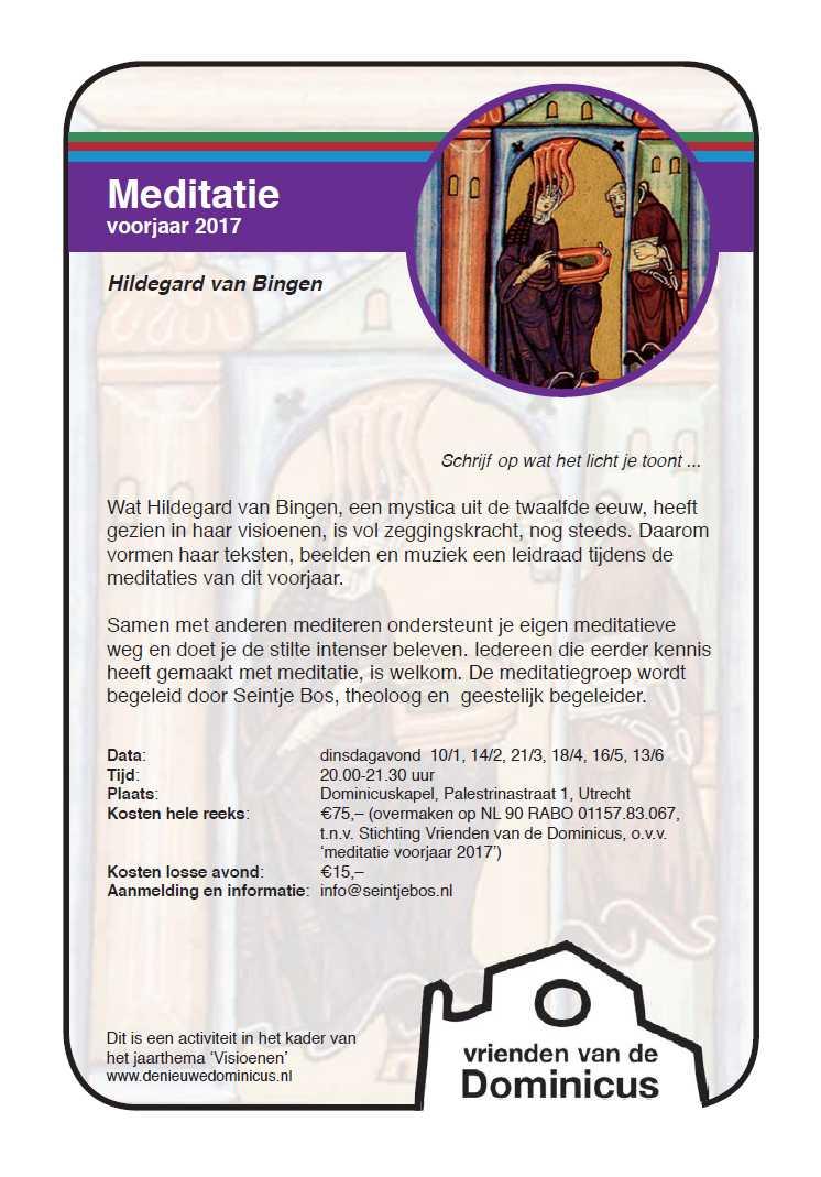 Flyer meditatieavonden voorjaar 2017