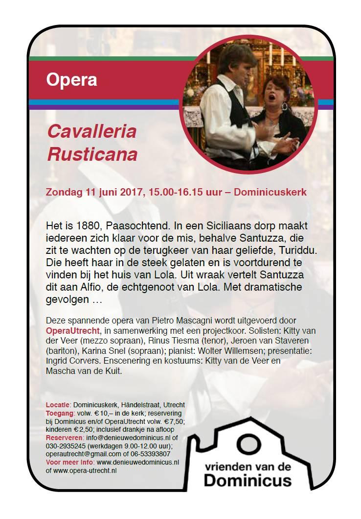 Flyer opera Cavalleria Rusticana