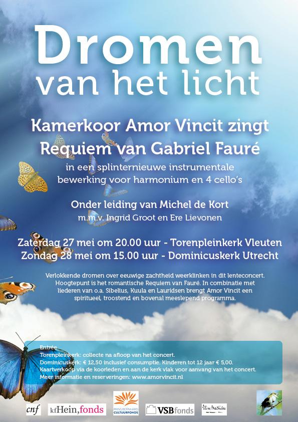 """Poster concert Amor Vincit """"Dromen van het licht"""""""