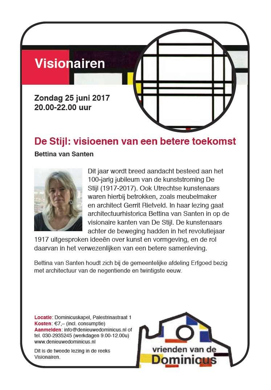 Flyer lezing De Stijl - Visionairen
