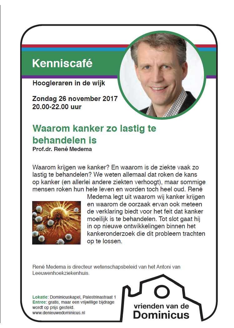 Flyer lezing René Medema