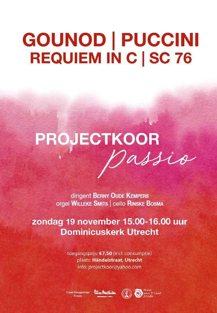 Flyer concert requiems, november 2017