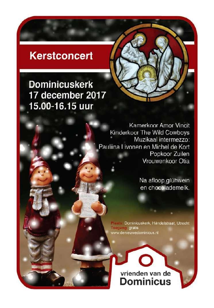 Flyer Kerstconcert van en voor de wijk, 2017