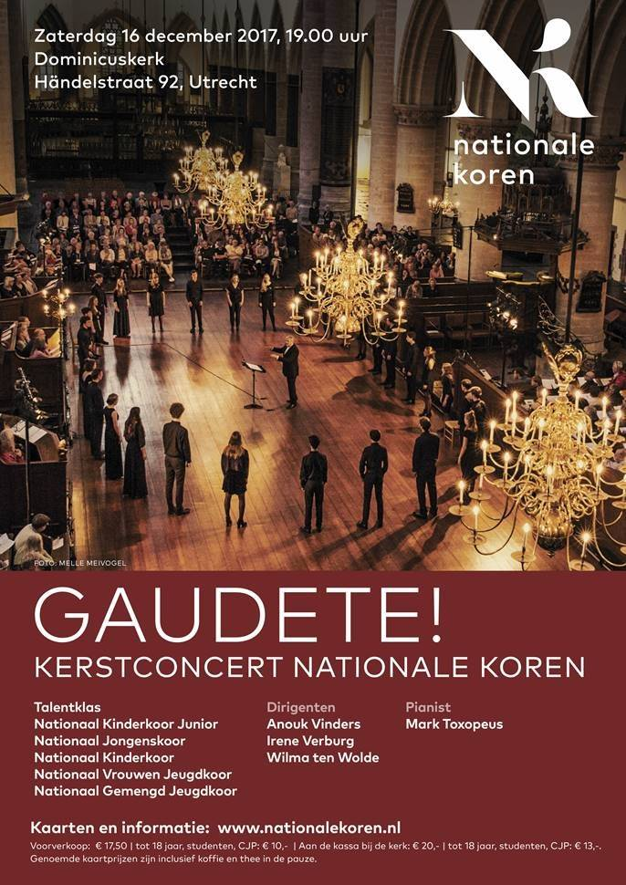 Poster kerstconcert Nationale Koren 2017