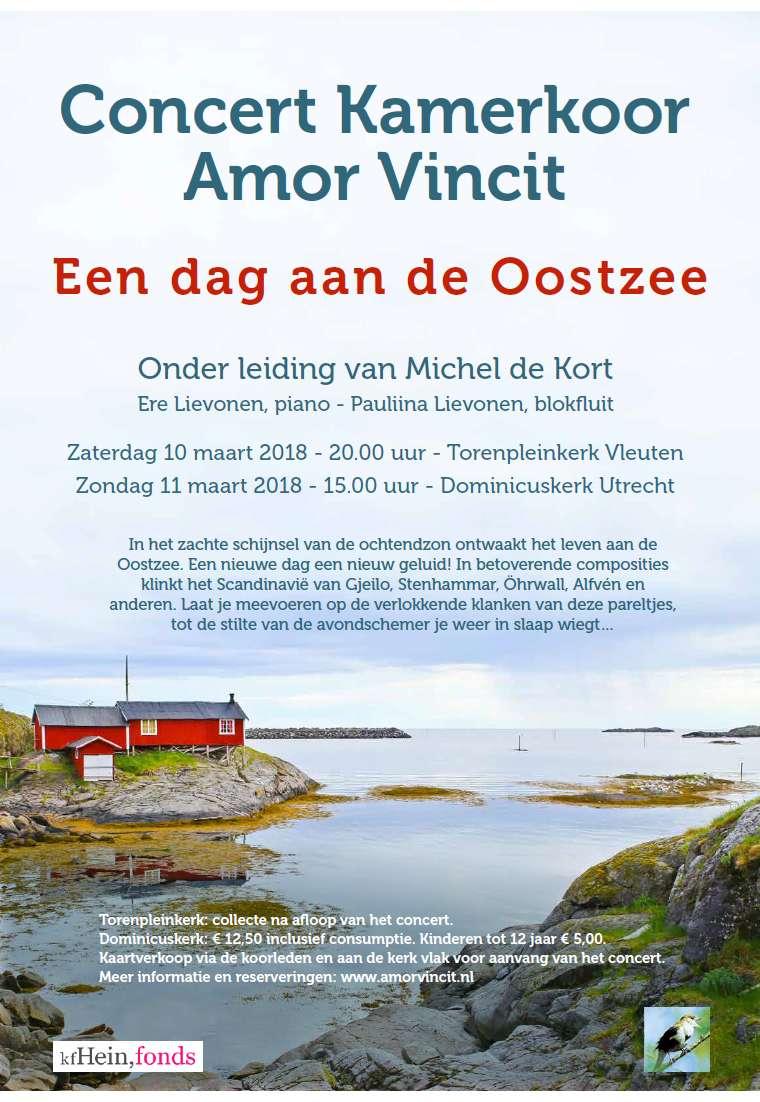 Flyer concert Amor Vincit voorjaar 2018
