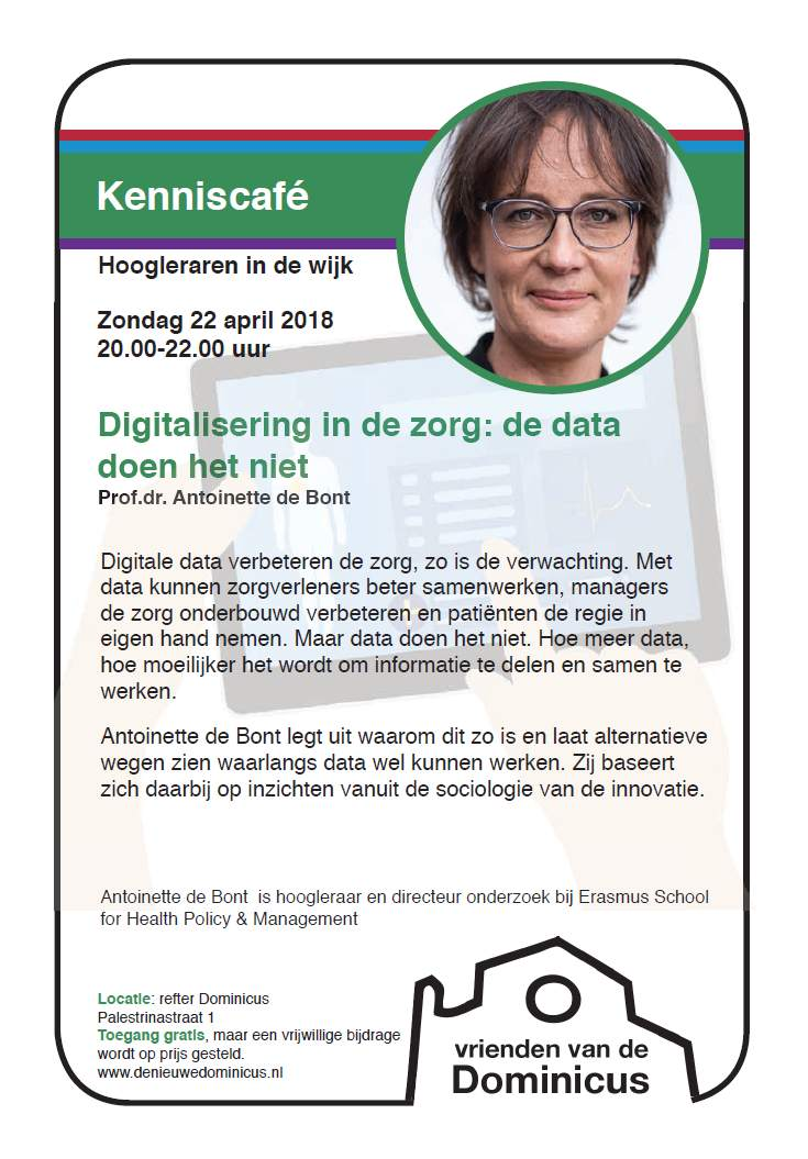 Flyer Kenniscafé De Bont