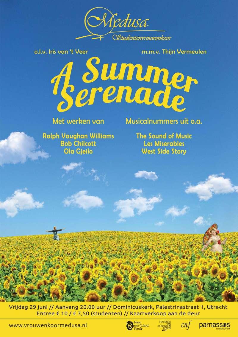 "Poster zomerconcert ""A Summer Serenade"", 29 juni 2018"