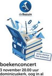 Flyer Boekenconcert De Bazuin, 3 novmember 2018