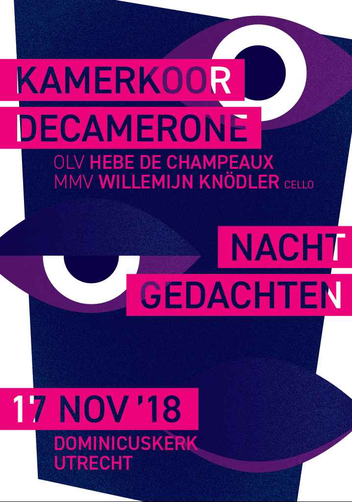 Flyer Decamerone, 17 november 2018-voorblad