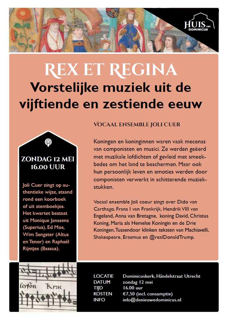 """Flyer concert """"Rex et regina"""""""