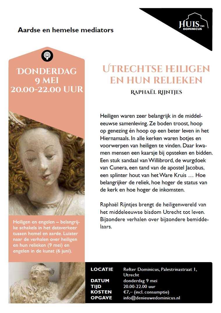 "Flyer lezing ""Utrechtse heiligen"""
